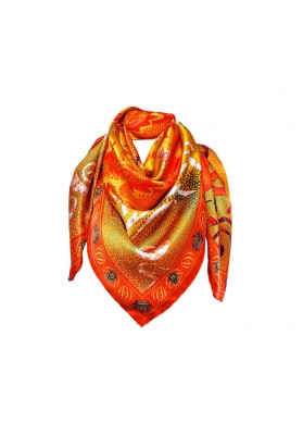 Primavera / Estate FOULARD IN SETA DRAGO 90X90