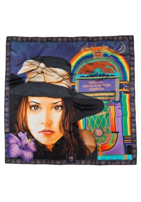 Primavera / Estate FOULARD IN SETA FANNY 90X90