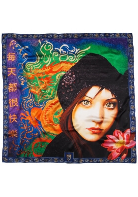 Primavera / Estate FOULARD IN SETA LAURE 90X90