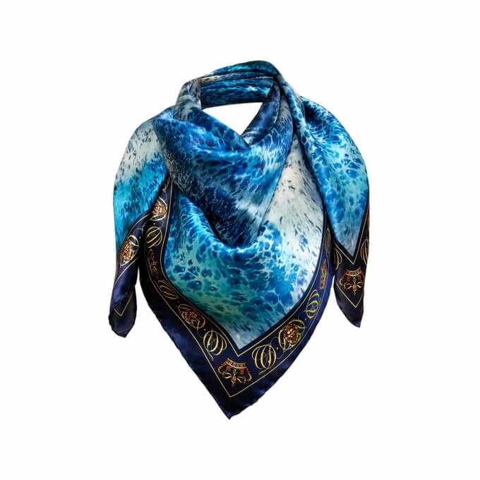 Spring / Summer SILK SCARF DEEP BLUE 90X90