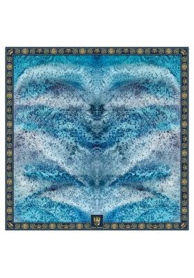 SCIALLE IN MISTO CASHMERE DRAGO 140 x 140