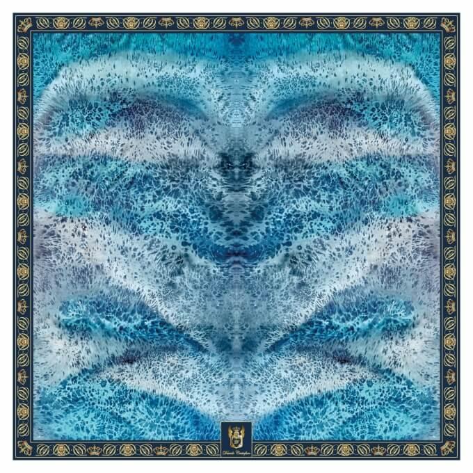 c315e1f41d6e5 Women's & Men's Scarves | Davide Cristofaro - SILK SCARF DEEP BLUE 90X90