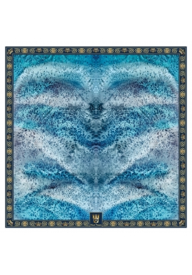 Autunno / Inverno FOULARD IN MISTO CASHMERE PROFONDO BLU 90X90