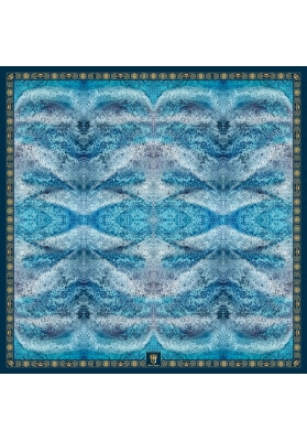 Spring / Summer SILK SHAWL DEEP BLUE 140X140