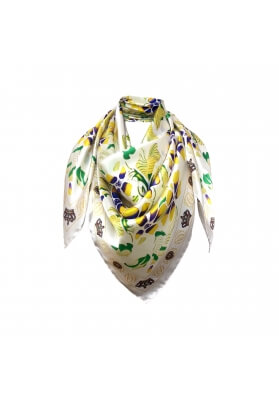 Primavera / Estate FOULARD IN SETA FIORI 90X90