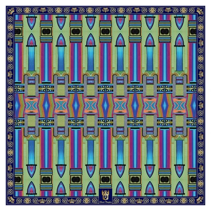 Spring / Summer SILK SCARF JUKE BOX 90X90
