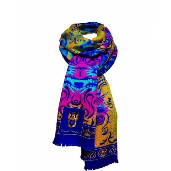 Autumn / Winter CASHMERE BLEND SCARF DRAGON 70X200
