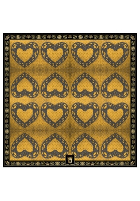 Spring / Summer SILK SCARF DARK HEART 90X90