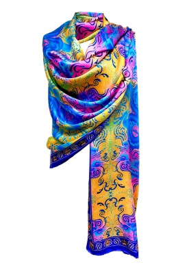 Spring / Summer SILK STOLES DRAGON 90X230