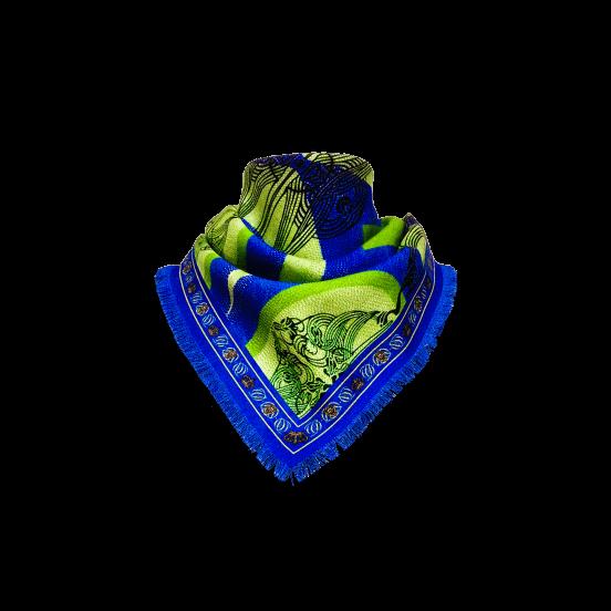 Sciarpe e Scialli FOULARD IN SETA/MISTO CASHMERE RHOMBUS 50X50