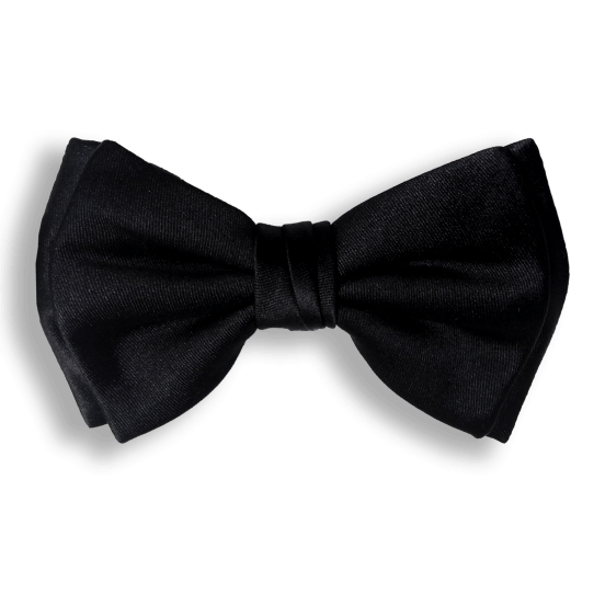 Bow Ties BLACK CLASSIC SILK BOW TIE