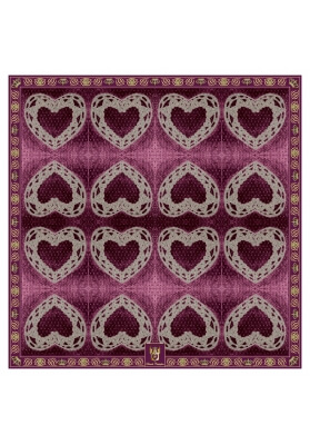 Autumn / Winter CASHMERE BLEND SCARF DARK HEART 90X90