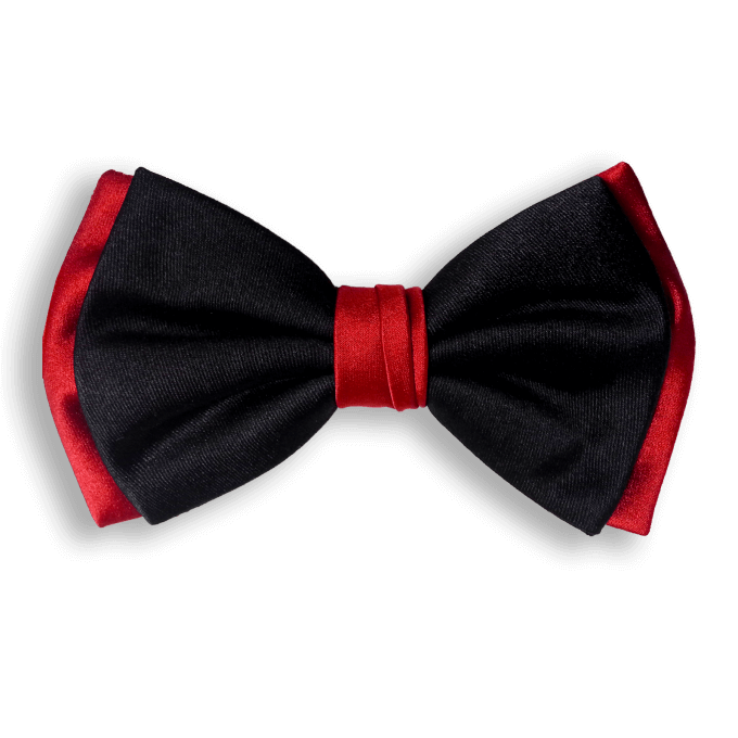 Bow Ties BLACK AND RED CLASSIC SILK BOW TIE
