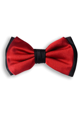 Bow Ties RED AND BLACK BASIC SILK BOW TIE