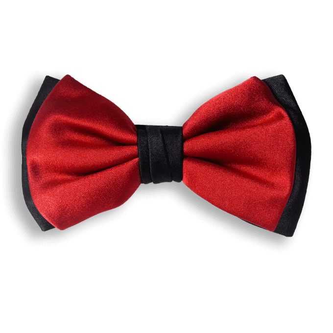 Bow Ties RED AND BLACK CLASSIC SILK BOW TIE