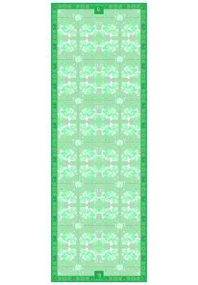 Spring / Summer SILK SCARF PASTEL ROSES 70X200