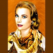 """Inspiration: """"GRACE"""" I avoid looking back. I prefer good memories to regrets. Our vision on fashion and art... www.davidecristofaro.com  #davidecristofarofficial #artworkcollection #illustration #drawing #grace #kelly #gracekelly #detail #art #fashion #design #madeinitaly #style #luxury #scarves #silk #cashmere #wool #foulards #bags #ties #bowtie #colorful #packaging #handmade #monaco #moscow #london #milan #apulia"""
